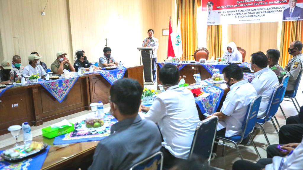Wakil Ketua DPD RI Sultan B. Najamudin Sambangi Dua Kabupaten Awasi Kesiapan Pelaksanaan Pilkada Serentak