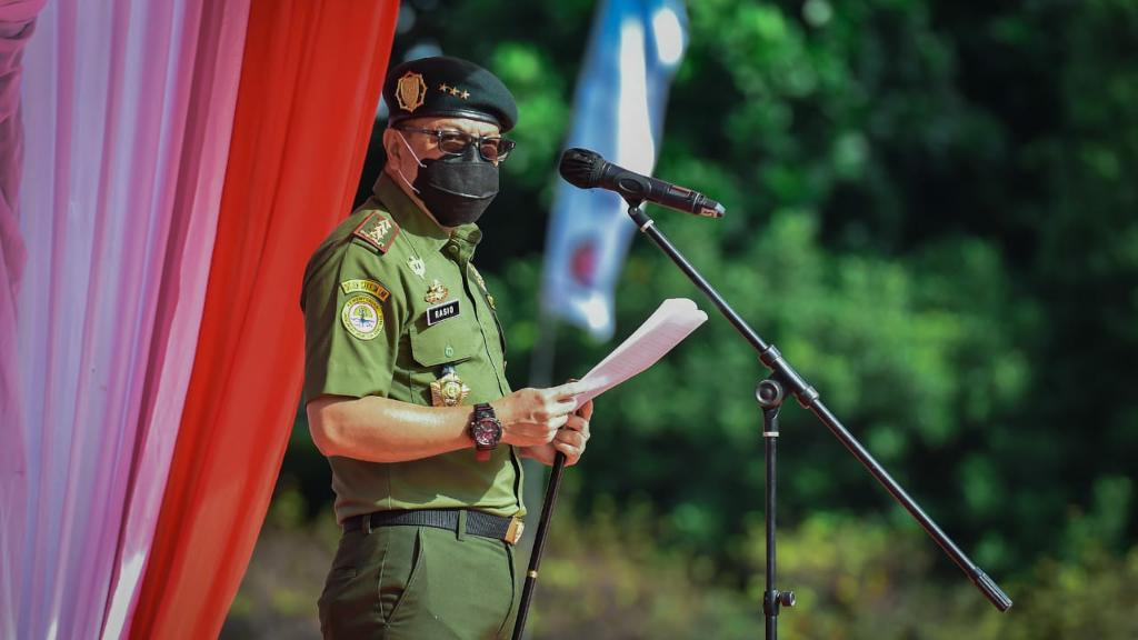 Satuan Polisi Kehutanan Reaksi Cepat (SPORC) Peringati Hari Jadi ke-15 dengan Apel Hybird