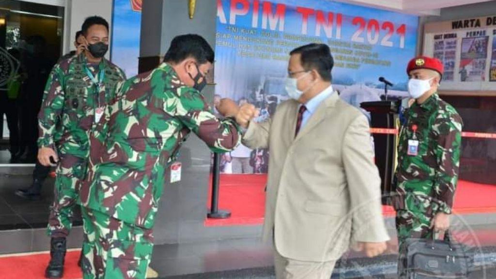 Menteri Prabowo Subianto Berikan Pembekalan dalam Rapim TNI 2021