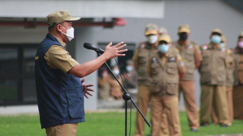 Wakil Wali Kota Bekasi Pimpin Apel