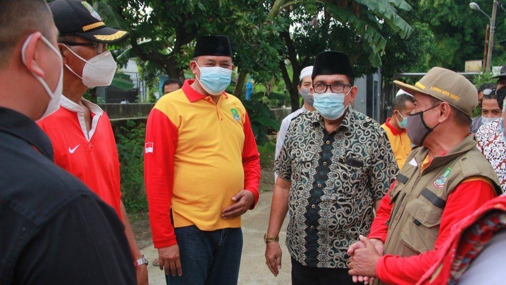 Wawali Kota Bekasi Tri Adhianto Tinjau Kali Cakung