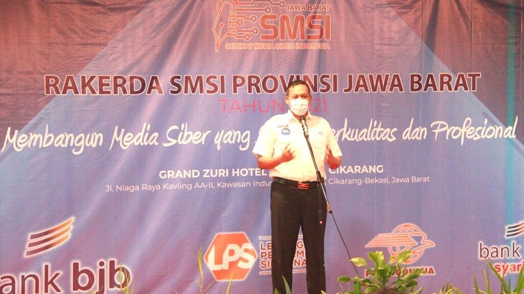 Wawali Kota Bekasi Hadiri Rakerda SMSI Jabar