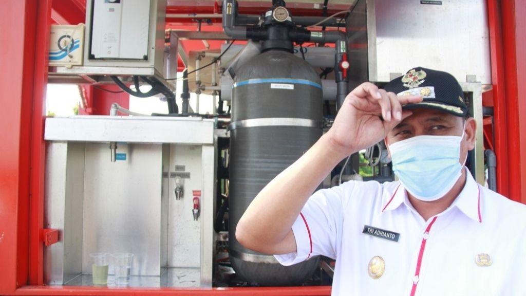 Wawalikota Bekasi Uji Coba Penjernih Air Dipolder Aren Jaya/